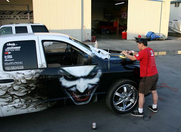 Airbrush Car Joker